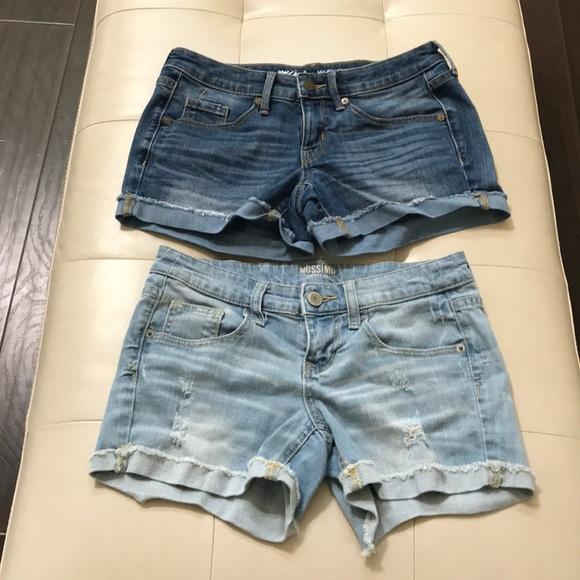 Mossimo Supply Co. Pants - 2 Mossimo Women's denim shorts size 0 & 3